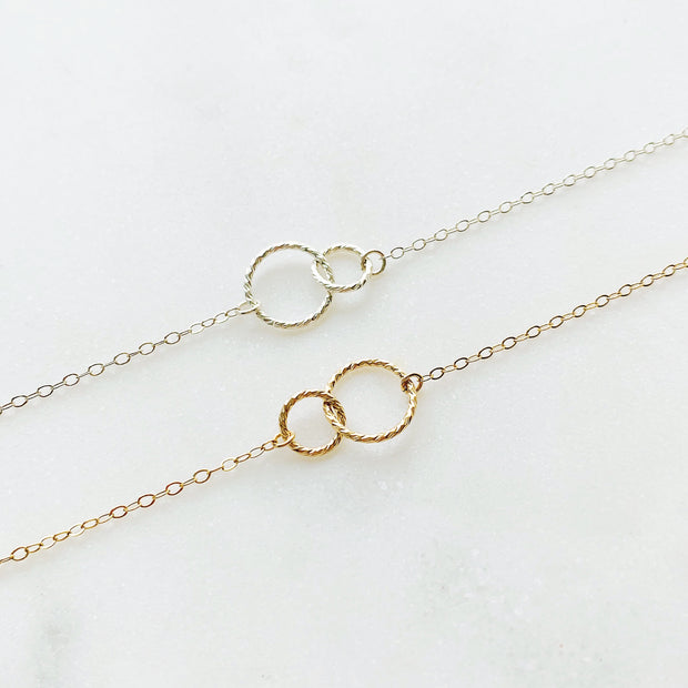 Ella Linked Ring Necklace - 14k Gold Fill
