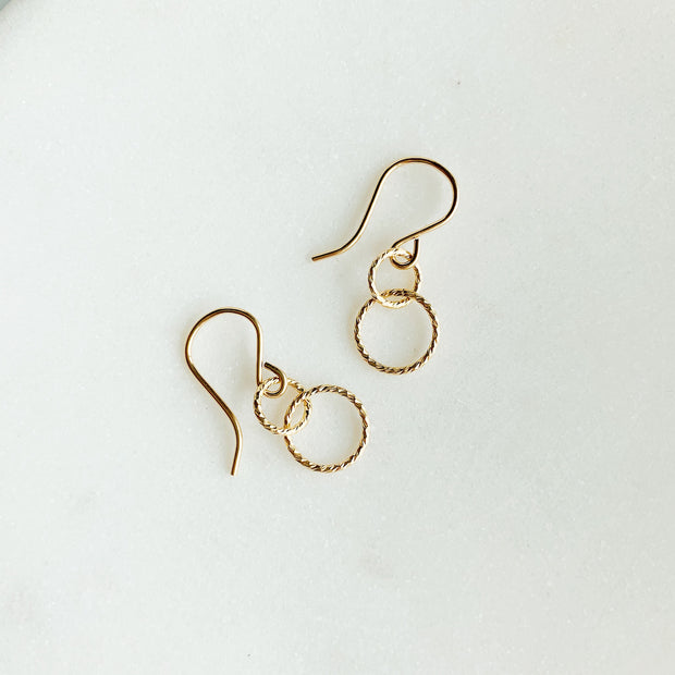 Ella Linked Ring Earrings - 14k Gold Fill