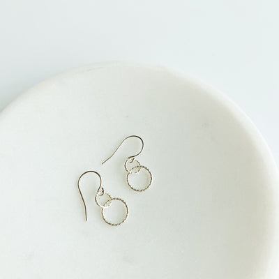 Ella Linked Ring Earrings - Sterling Silver