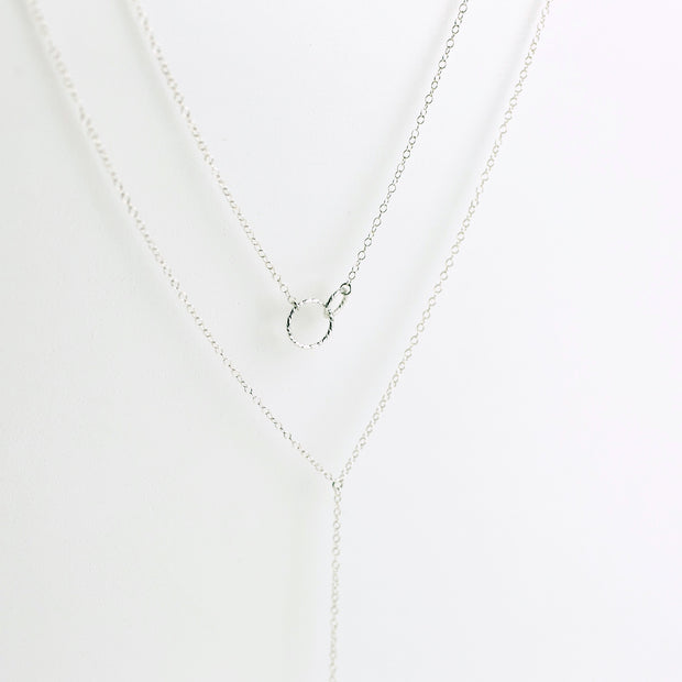Ella + Aria Y Necklace Layering Set - Sterling Silver