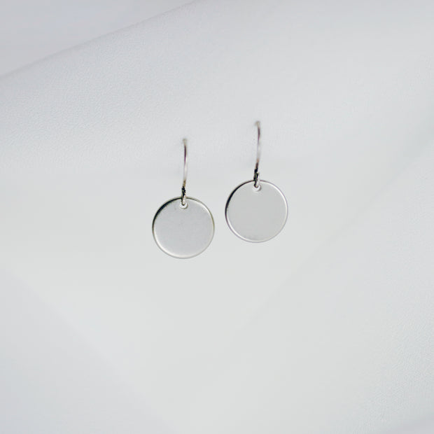 Elodie Coin Earrings – Silver