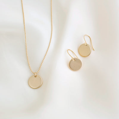Elodie Necklace + Earrings Gift Set - Gold