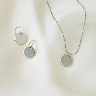 Elodie Necklace + Earrings Gift Set - Silver