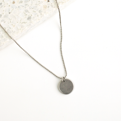 Elodie Coin Necklace - Silver