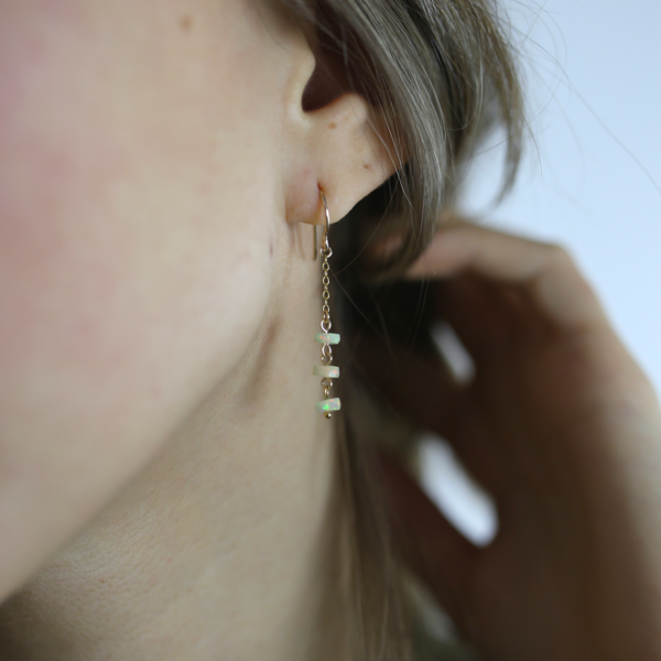 Emille Opal Earrings 14K Gold Fill
