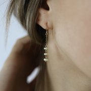 Emille Earrings - Opal