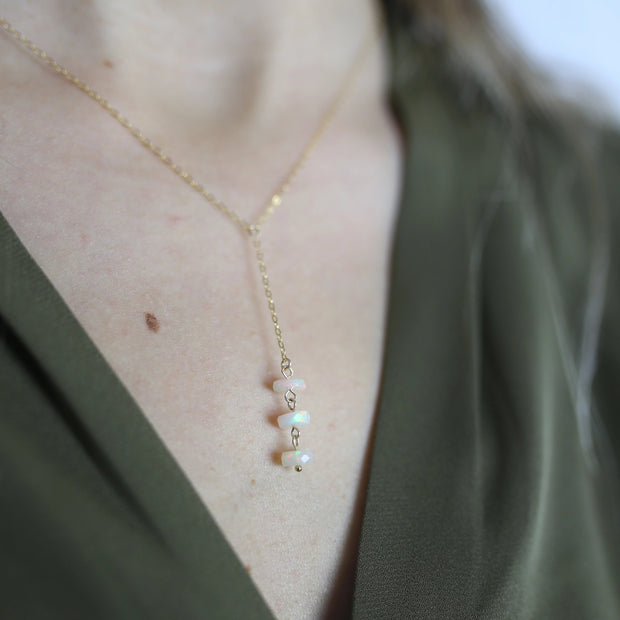 Emille Opal Y Necklace - LIMITED EDITION