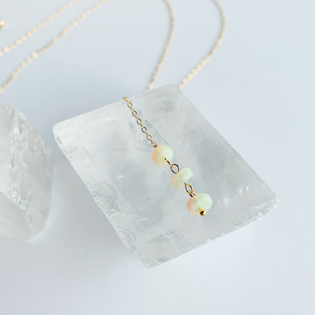 Emille Y Necklace - Opal