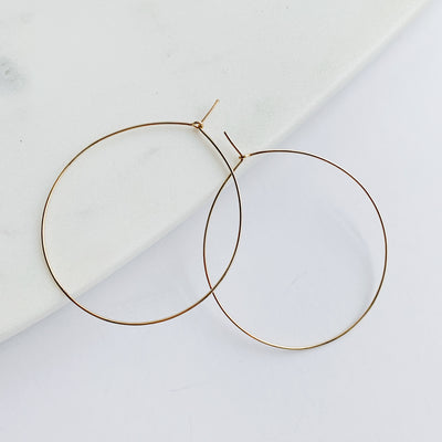 Weightless Large Hoops - 14k Gold Fill