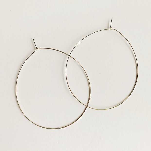 Weightless Large Hoops - Sterling Silver