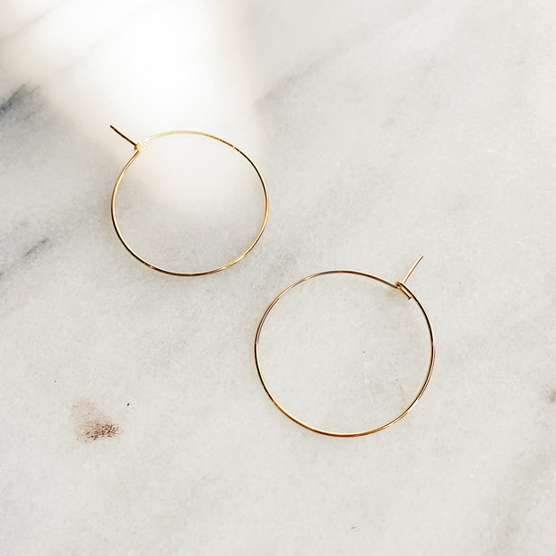 Essential Small Hoops - 14k Gold Fill