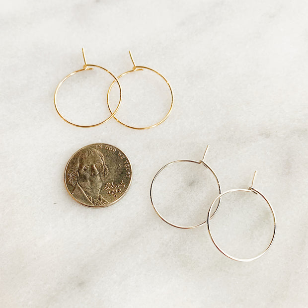 Essential XS Hoops - 14k Gold Fill