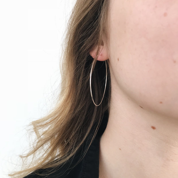 Medium Essential Hoops - Sterling Silver