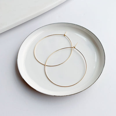 Weightless Medium Hoops - 14k Gold Fill