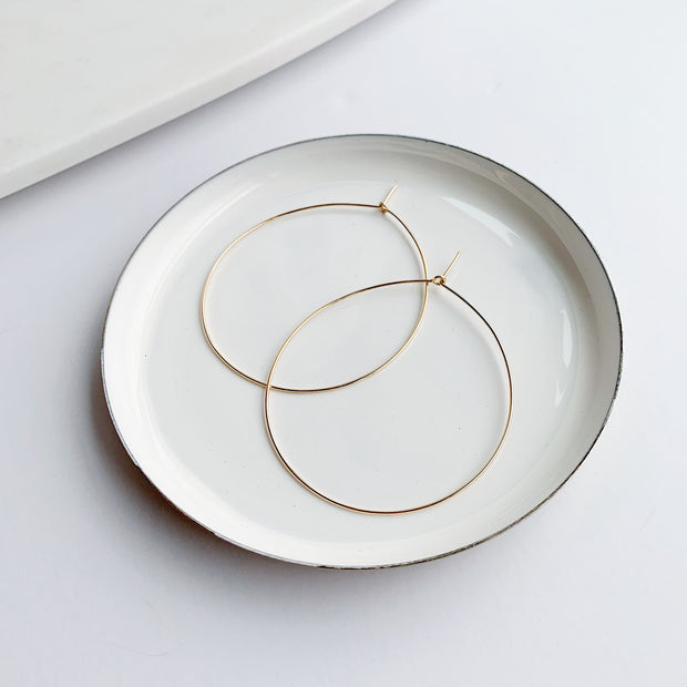Essential Medium Hoops - 14k Gold Fill