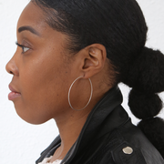 Essential Medium Hoops - Sterling Silver