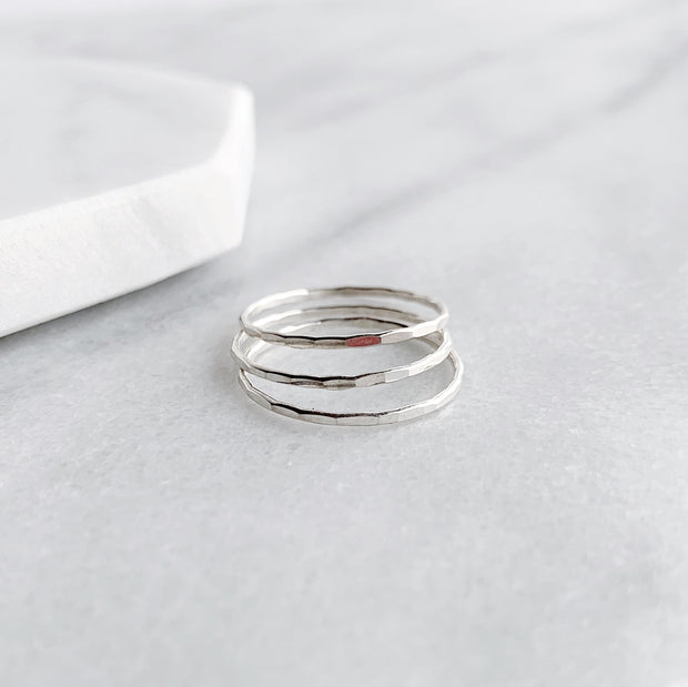 Essential Stacking Ring - Sterling Silver