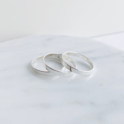 Flat Band Ring - Sterling Silver