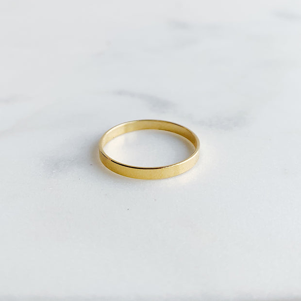 Flat Band Ring - 14K Gold Fill