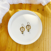 Françoise Circle Earrings - Brass