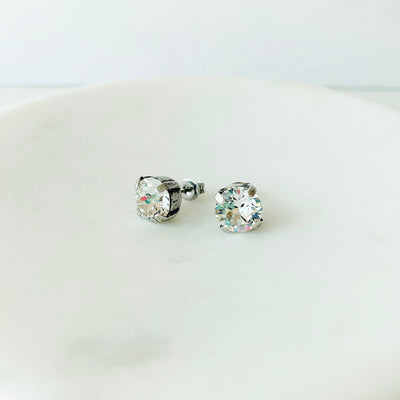 Grace Swarovski Crystal Stud Earrings - Clear
