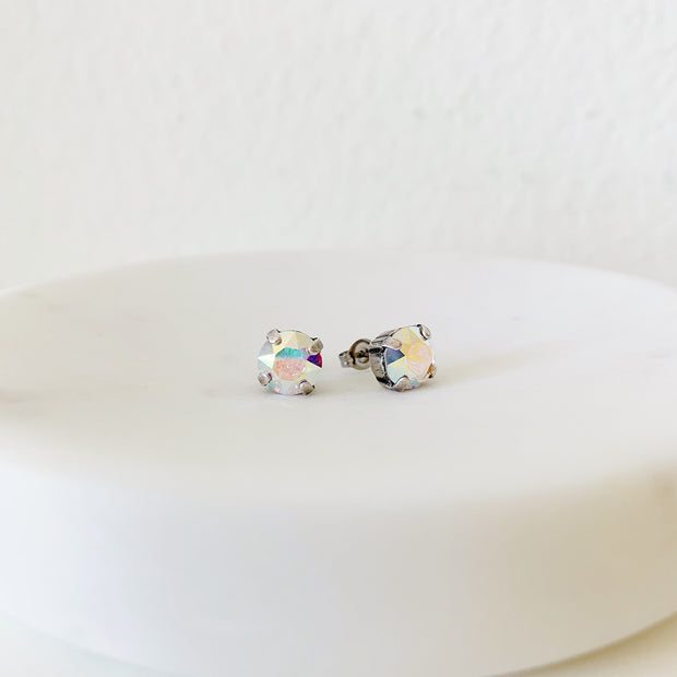 Grace Swarovski Crystal Stud Duo Set - Confetti/Blush