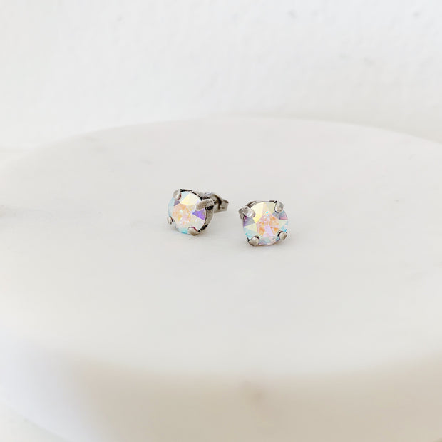 Grace Swarovski Crystal Stud Earrings - Confetti