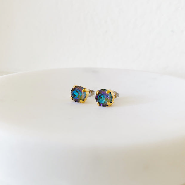 Grace Swarovski Crystal Stud Earrings - Twilight