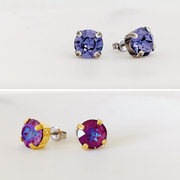 Grace Swarovski Crystal Stud Duo Set - Orchid/Lilac