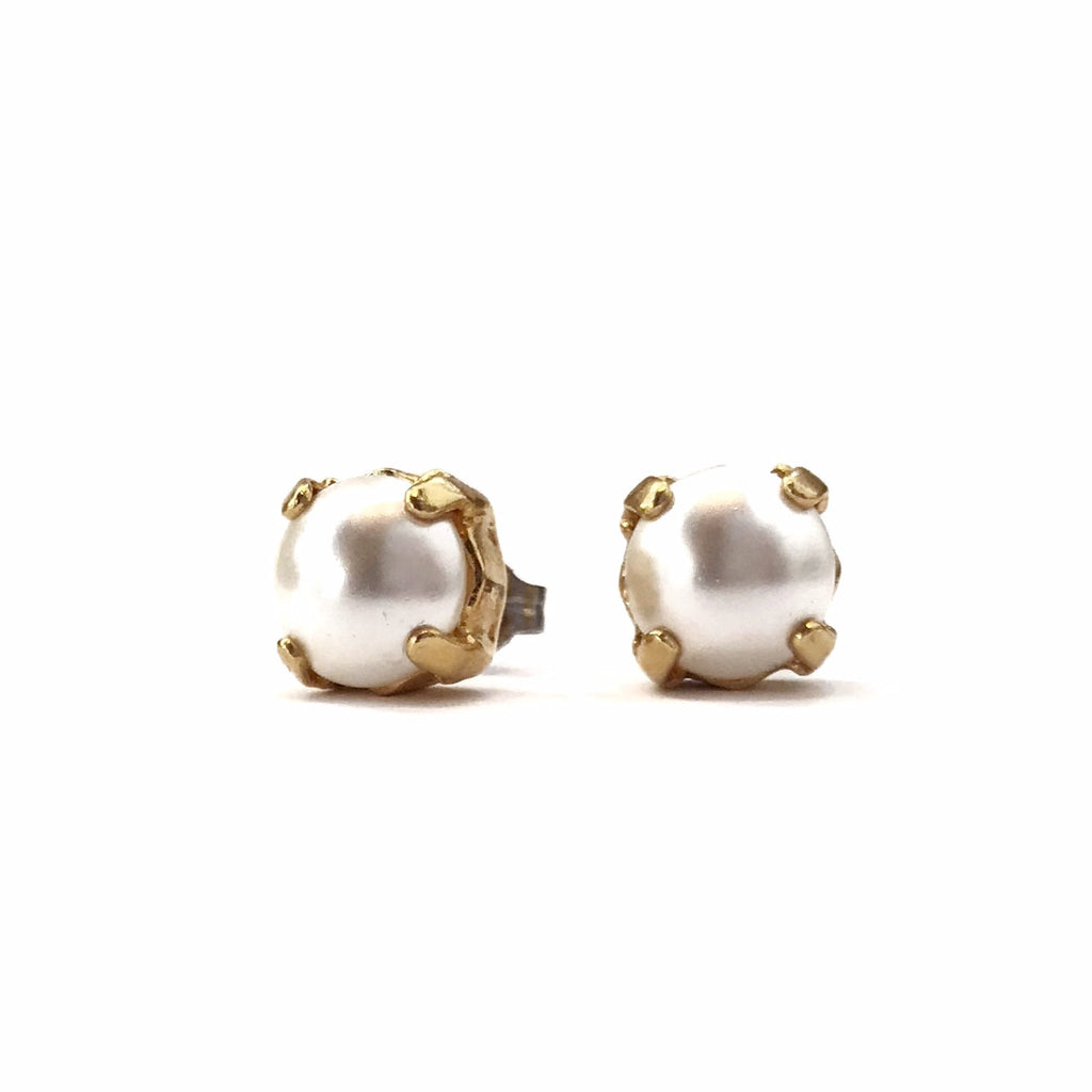 688d13641 Grace Pearl Stud Earrings - Gold – Grayling Jewelry