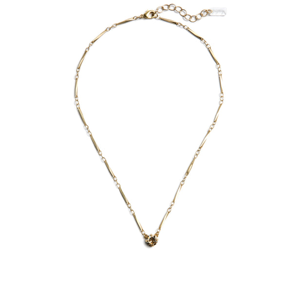 Grace Swarovski Crystal Pendant Necklace - Gold