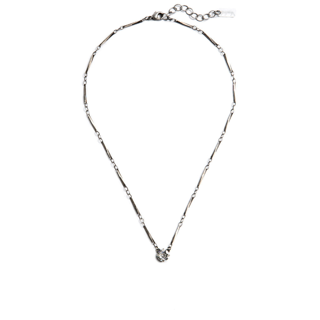 Grace Swarovski Crystal Pendant Necklace - Silver