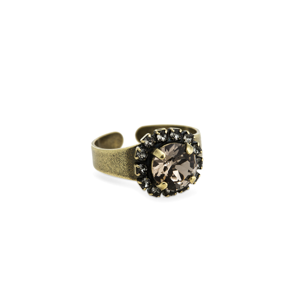 Grace Swarovski Crystal Ring - Brass