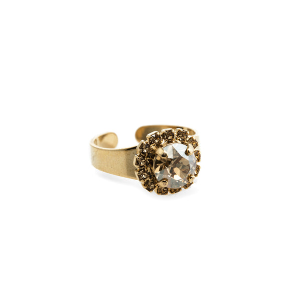 Grace Swarovski Crystal Ring - Gold