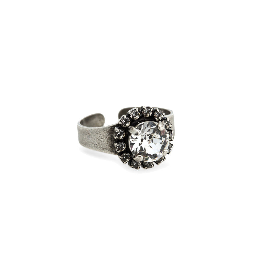 Grace Swarovski Crystal Ring - Silver