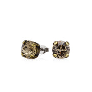 Grace Swarovski Crystal Stud Earrings - Brass