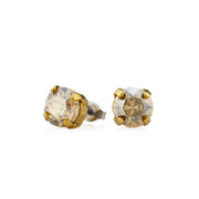 Grace Swarovski Crystal Stud Earrings - Gold