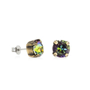 Grace Swarovski Crystal Stud Earrings - Aurora Borealis 3