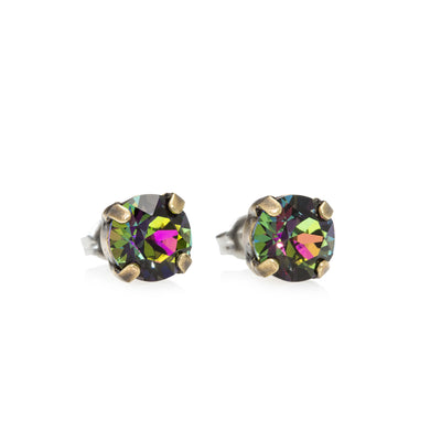 Grace Swarovski Crystal Stud Earrings - Aurora Borealis 2