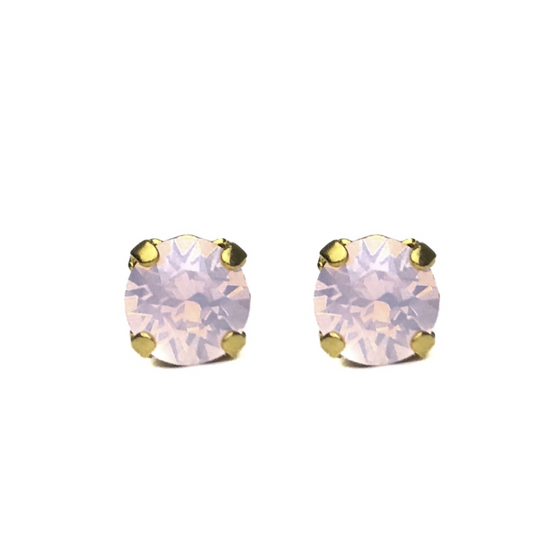 Grace Swarovski Crystal Stud Earrings - Blush