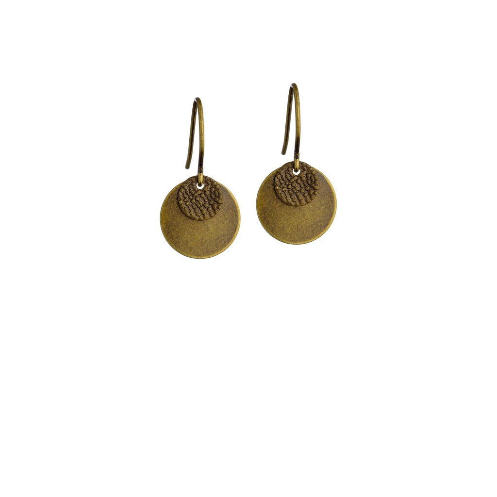 Grayling Baby Disc Earrings Brass.JPG