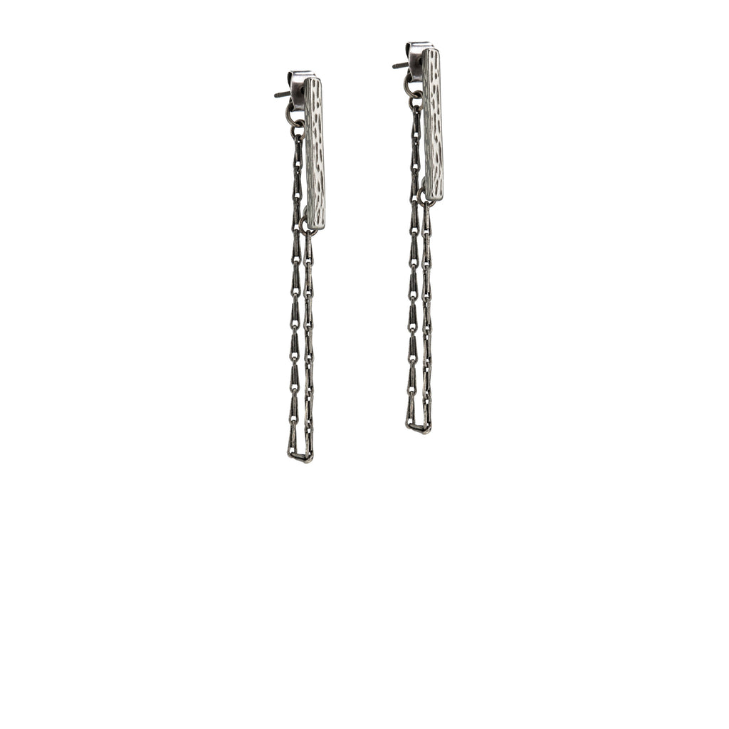 Hartley Post Earrings - Silver