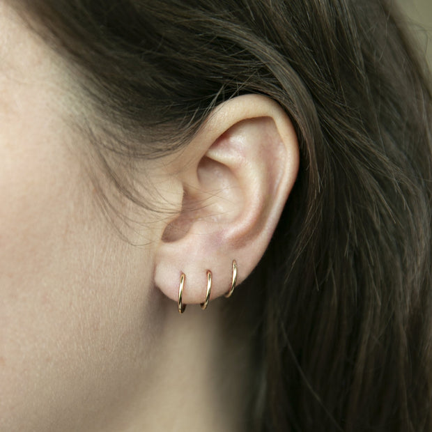 Weightless Huggie Earrings - 14k Gold Fill