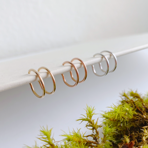 Weightless Huggie Earrings - 14k Rose Gold Fill