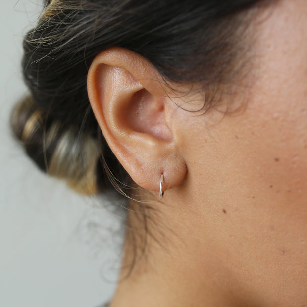 Essential Huggie Earrings - Sterling Silver
