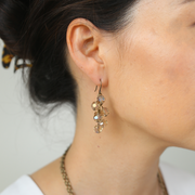 Inès Bauble Earrings - Brass