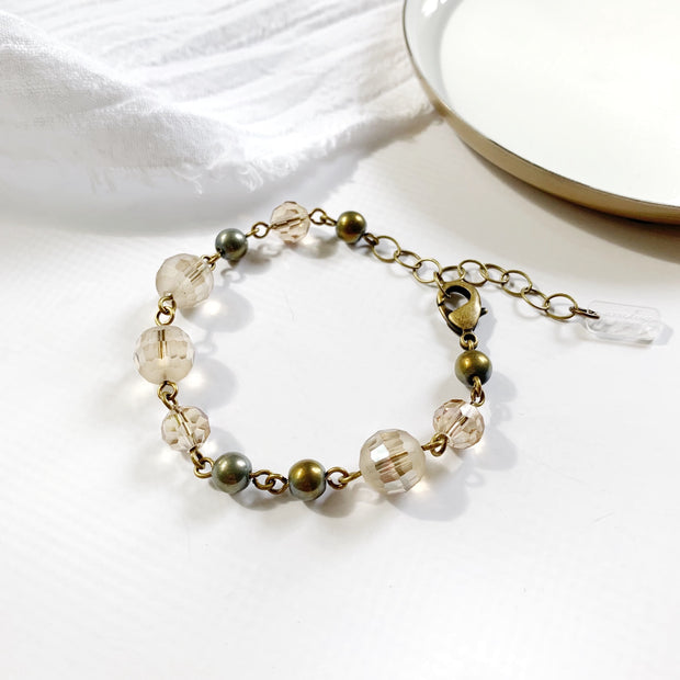 LouLou Beaded Strand Bracelet - Brass