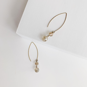 LouLou Sleek Drop Earrings - Brass - Imperfect