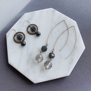 Françoise Circle Earrings - Silver