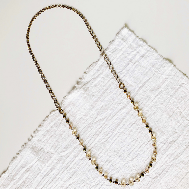 LouLou 2-in-1 Beaded Necklace - Brass